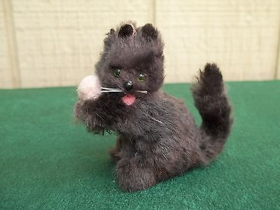 Vintage Original Fur Animals ~ Cat / Kitten ~ Made in W. Germany, ~2 inches tall