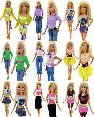 Lot 10 Sets Bottoms Pant Skirt Outfits Accessories Clothes For 12 in. Girl Doll