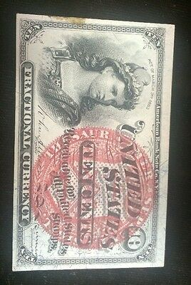 Series 1863 Ten Cent Fractional Currency