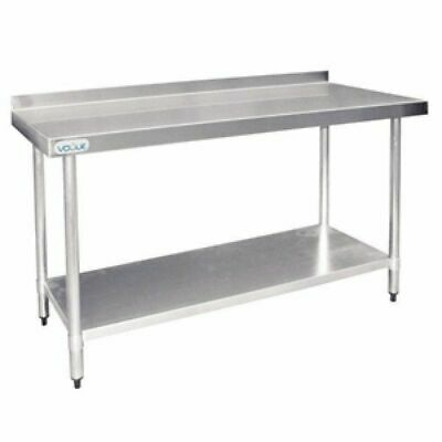 Kitchen Work Bench with Undershelf & Splashback 700x1500x900mm Stainless Steel