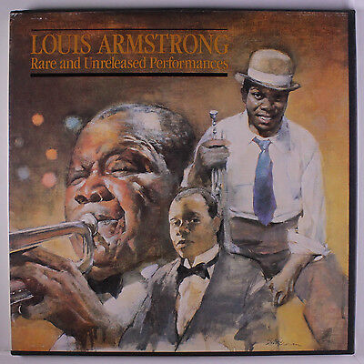 LOUIS ARMSTRONG: Rare And Unreleased Performances LP (4 LP-box, booklet, v. sl