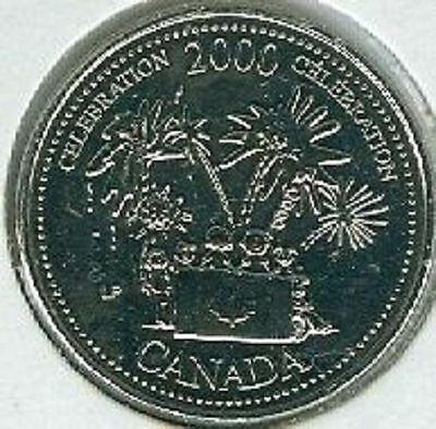 2000 CELEBRATION - Celebrating Quarter 25 Cent '00 Canada/Canadian Coin BU UNC