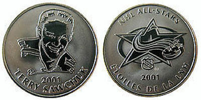 2001 Terry Sawchuk NHL '01 Detroit Red Wings Coin RCM Royal Canadian Mint