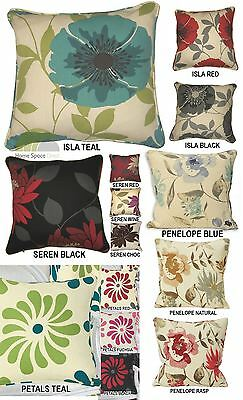 Modern Floral Contemporary Luxury Polycotton Square 45 x 45cm Cushion Covers New