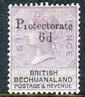 BECHUANALAND-1888 6d on 6d Lilac & Black.  A mounted mint example Sg 45