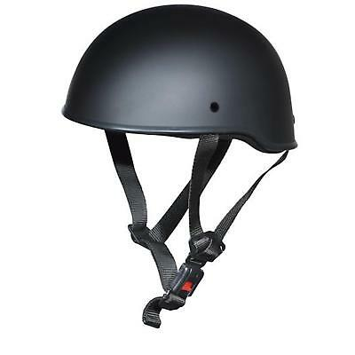 Germot GM 10 Brain Cap KULT Custom Helm Chopper Halbschale schwarz matt military