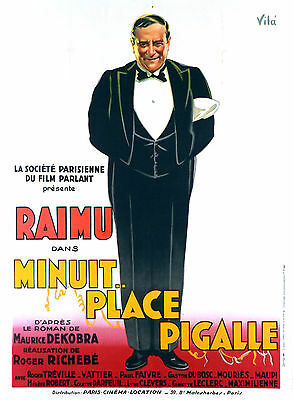 Minuit Place Pigalle - Original French Poster