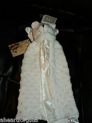 Elegant Baby SECURITY BLANKET Bear Angel Praying White Dot Popcorn Mink Lovey
