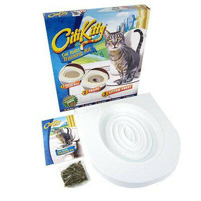 New Cat Toilet Mat  Pet Supplies Potty Pads Seat Toilet Training System Kit Tray