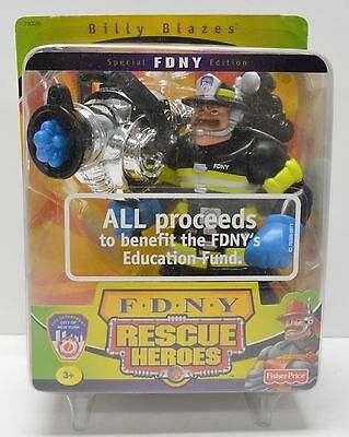 FDNY Edition 9/11 NYC Billy Blazes Firefighter Rescue Heroes Action Figure NIP