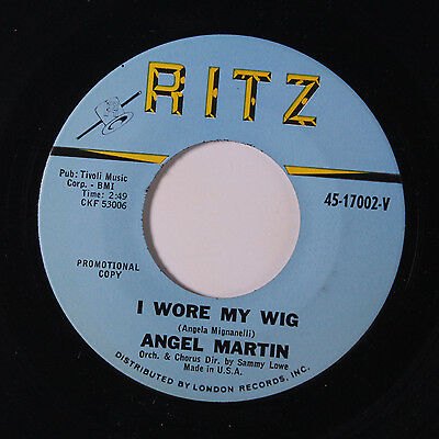 ANGEL MARTIN: I Wore My Ring / I Went To Your Wedding 45 Oldies