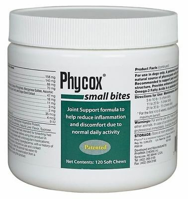 Phycox Small Bites Dechra 120 ct Dog Joint Support Pet Health