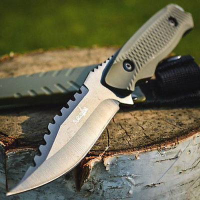 """8"""" TACTICAL COMBAT NECK KNIFE Survival Hunting MILITARY BOWIE DAGGER Fixed Blade"""
