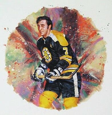 Phil Esposito Boston Bruins NHL Hockey Stamp Lithos Lithograph Canada Post