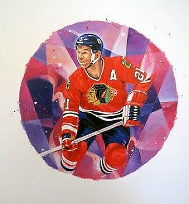 Stan Mikita Chicago Black Hawks NHL Hockey Stamp Lithos Lithograph Canada Post