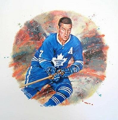 Tim Horton Toronto Maple Leafs NHL Hockey Stamp Lithos Lithograph Canada Post