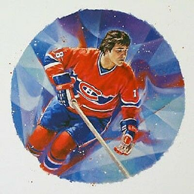 Serge Savard Montreal Canadiens NHL Hockey Stamp Lithos Lithograph Canada Post