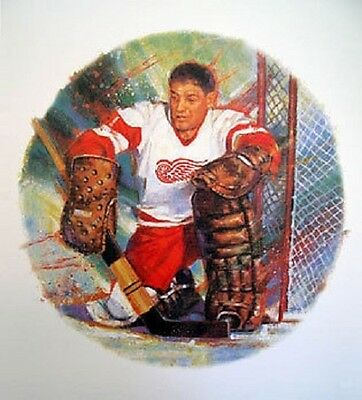 Terry Sawchuk Detroit Red Wings NHL Hockey Stamp Lithos Lithograph Canada Post