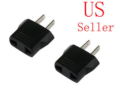 US 2-Flat pin Type A Universal Multiple AC Travel Power Plug Adapter Converter
