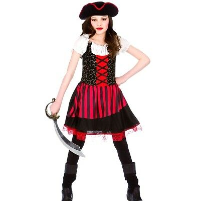 67cc574df GIRLS GOLDEN PIRATE Fancy Dress Costume Childs Girl Maiden Outfit ...