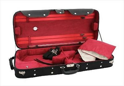 VC066 Young Combination Double Case 4/4 Violin + Viola, Black + Burgundy **NEW**