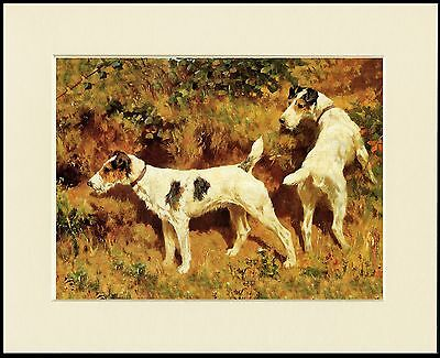 Wire Fox Terrier Lovely Little Dog Print Dogs At Work