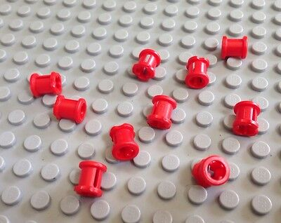 NEW / LEGO / 10 Red Parts / Technic Pieces / Bushing For Cross Axle / 4227155