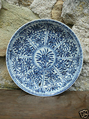assiette porcelaine chinoise chine XVIII KANGXI 18th plate chinese porcelain