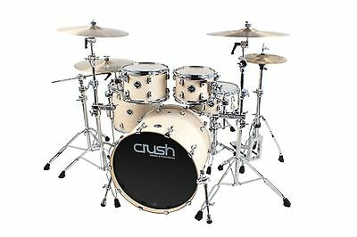 Crush Drums Eminent Birch 5 Piece Shell Pack Drum Kit/Satin Vintage White/# 209