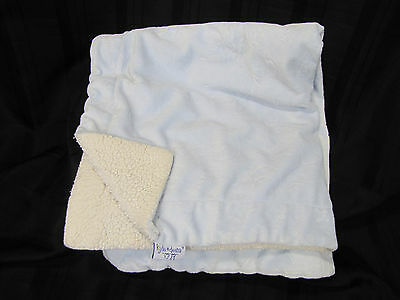 Kyle And & Deena Baby Boy Blanket Blue Cream Ivory Moon Star Minky Sherpa