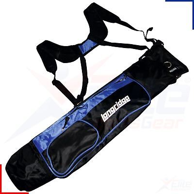 "Longridge 5"" Pencil Golf Bag Lightweight Dual Strap - BLACK/BLUE"