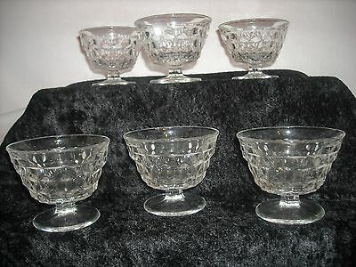 """Fostoria American """"Early American"""" 3 1/8"""" footed sundae glasses (set of 6)"""