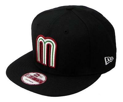 NEW ERA Mexico Cap World Baseball Classic Hat 9fifty Snapback Black Adjustable