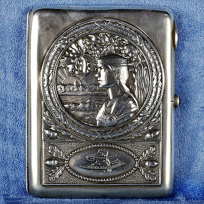 Stunning Hallmarked Russian Silver Cigarette Case Early 20th Century