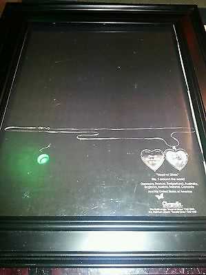 Blondie Heart of Glass Rare Original Classic Promo Poster Ad Framed!