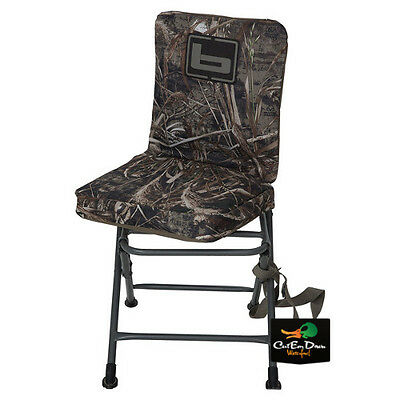 New Banded Swivel Blind Chair Padded Seat Hunting Stool Realtree Max-5 Camo Tall
