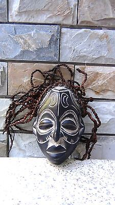 ANTIQUE EARLY 20c AFRICAN TRIBAL WOOD CARVED CHOKWE ARTENEGRO GALLERY MASK