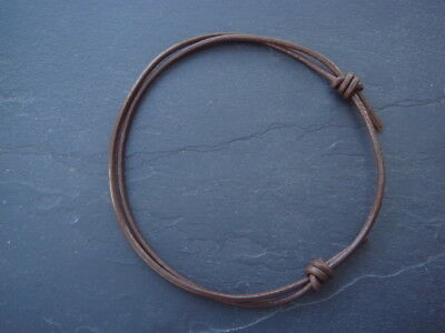 Adjustable 2mm Brown real leather cord thong anklet