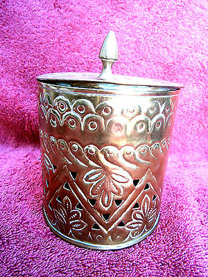 VINTAGE  COPPER  INCENSE  BURNER   14cm.