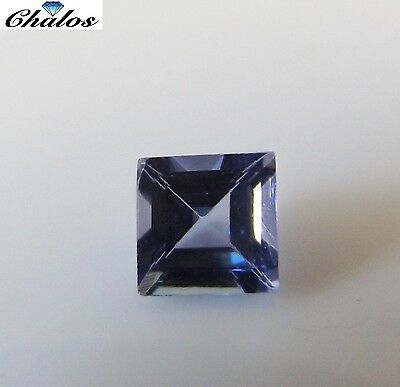 1x Tansanit - Carree facettiert 0,83ct. IF  5,5x5,5mm (2073A)