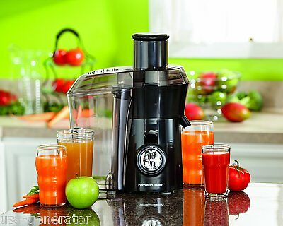 Big Mouth Juice Extractor Juicer Black 800 Watt Fruit Vegetable Hamilton Beach