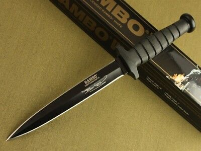"12"" Rambo VI Style 5.5mm Boot Dagger rescue bowie camp Survival Hunting Knife"
