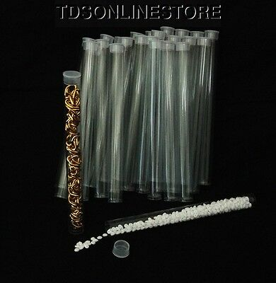 Package Of 100 Round Clear Plastic Storage Tubes 6""