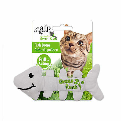 All For Paws Green Rush Fish Bones Canadian Imported Catnip Cat Kitten Toy