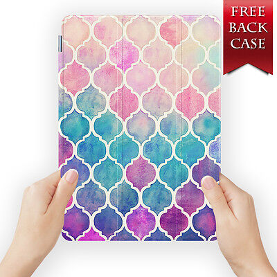 Rainbow Leather Smart Case Pro Cover For Ipad 2 3 4 5 6 Air Mini Retina Display
