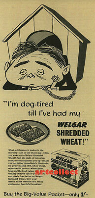 Original Vintage British Ad: Welgar Shredded Wheat (1954)