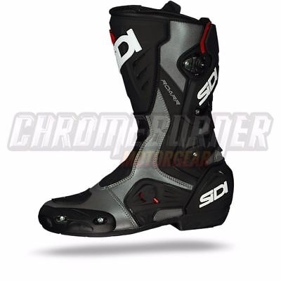 SIDI Roarr Anthracite Black, Motorcycle Boots, Free Shipping! NEW