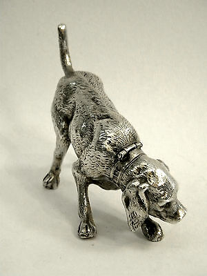 Antique Continental Silver Dog Model / Figure / Statue Import 1902