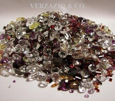 100+ Ct Mix Lot Loose Faceted Natural Gemstones Mixed Gems Wholesale Loose Gem