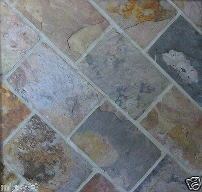 SLATE TILES, Charcoal-Multicolour 305x205mm (Selling by the Square Metre)